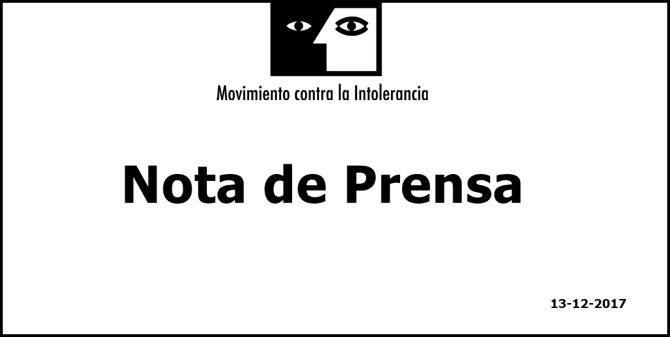 Movimiento contra la Intolerancia pide a los Partidos Políticos  que condenen el Crimen de Odio de Zaragoza y a la ciudadanía  que no vote a quien no lo condene