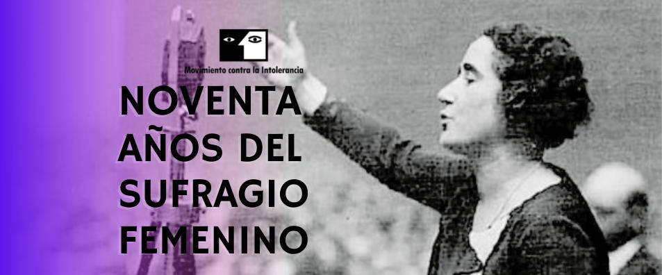 1 de Octubre – 90 ANIVERSARIO DEL SUGRAGIO FEMENINO
